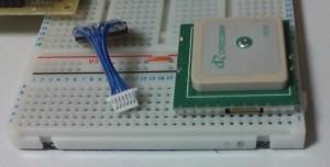 秋月のGPSモジュール GT-720F コネクター部分