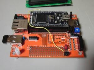☆ボード上の赤外線リモコン受信モジュール