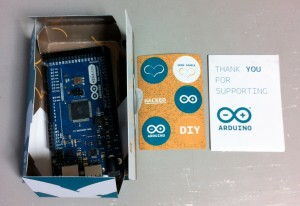 Arduino MEGA ADK(パッケージを開けたところ)