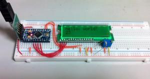 Arduino Pro Mini + LCD