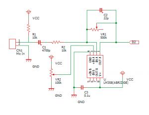 フィルタ回路を調整した回路図