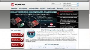 MPLAB X IDEのページ