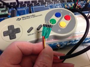SFCコントローラーのケーブルにピンヘッダーを付ける