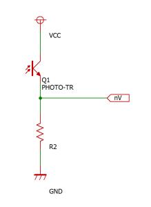 フォトトランジスタを使う時の回路図
