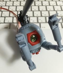 ボールに赤外線LEDの回路を入れた(組み立て完了)