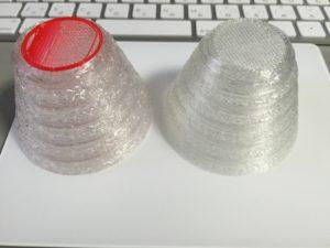 積層ピッチ(0.2mmと0.4mm)による比較