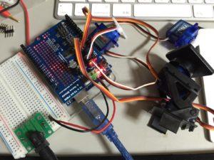 16 x 12-bit PWM & Servo Shieldの動作テスト(全体)