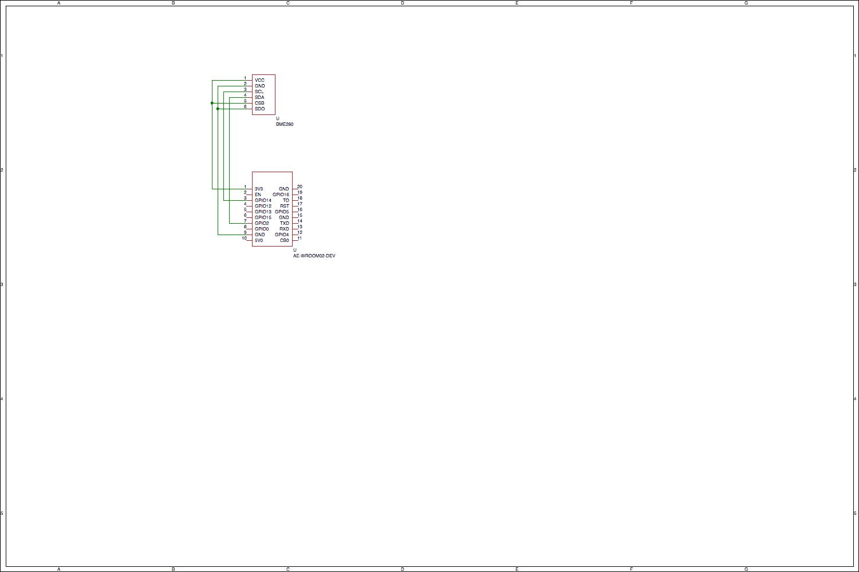 秋月ESP-WROOM-02開発ボードとBME280の回路図