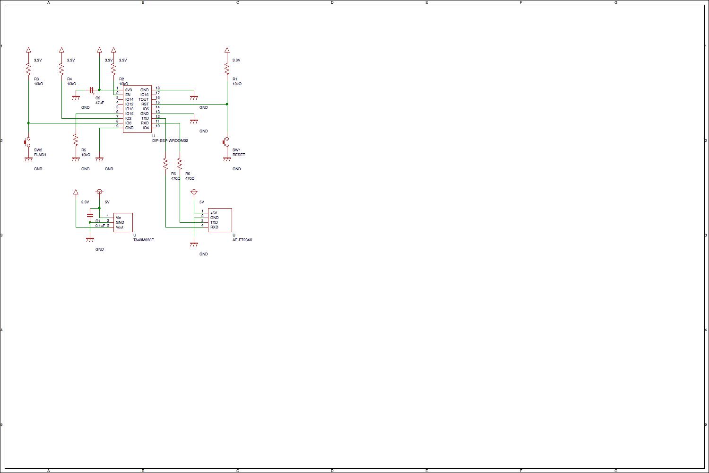 ESP-WROOM-02基本回路図