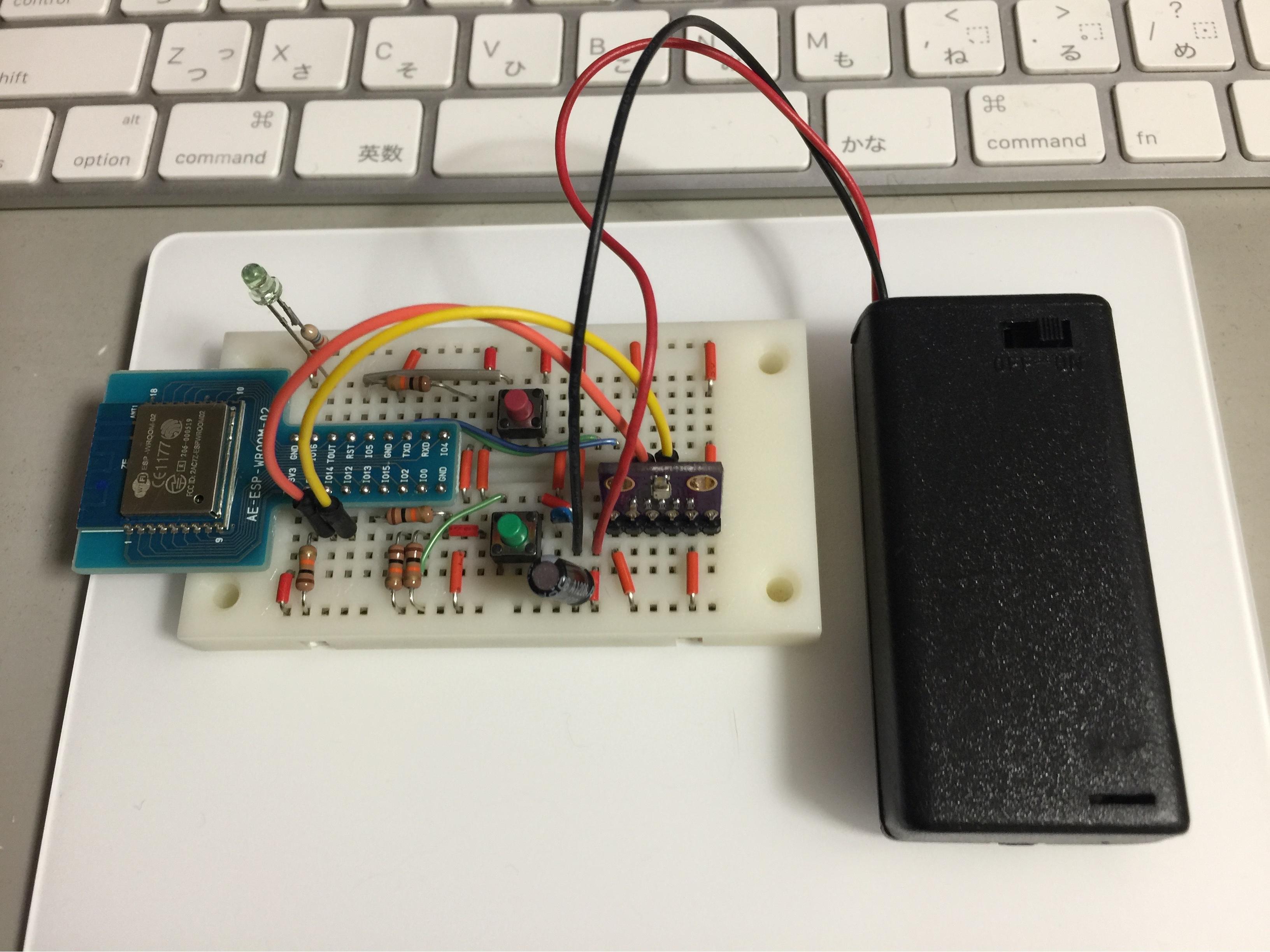 単三電池2本でBme280Server