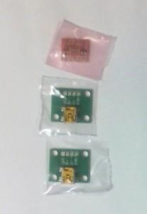 +5V⇔+3.3Vの変換回路とUSB miniBコネクタピッチ変換基板